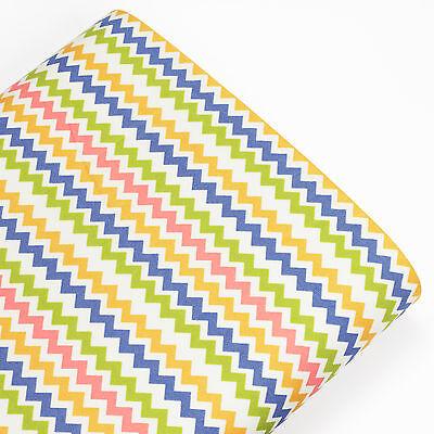 REMIX ZIG ZAG CHEVRON STRIPE 100% Cotton Fabric Dress Quilting Crafts VA67 by FQ