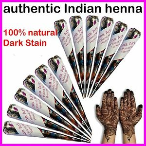 Fresh-Quality-Henna-Mehndi-Hand-Made-Tattoo-Paste-Pen-Cones