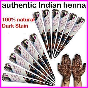 Fresh-Quality-Henna-Mehndi-Hand-Made-Tattoo-Paste-Pen-Cones