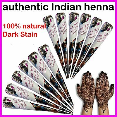Fresh Quality Henna Mehndi Hand Made Tattoo Paste Pen Cones