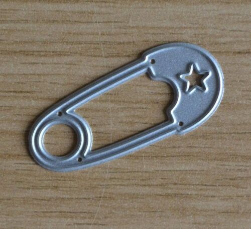 Diaper Baby Large NAPPY PIN WITH STAR B Metal Cutting Die A54
