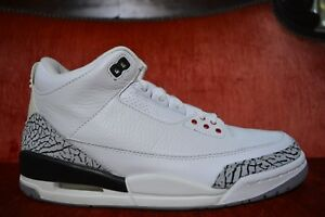 buy popular 8f7e8 d8909 Details about PRISTINE 2003 Nike Air Jordan III 3 Retro WHITE CEMENT FIRE  RED SZ 9 136064-102