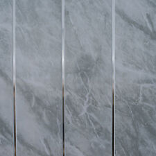 Grey Marble Chrome Bathroom Cladding Panels PVC Kitchen Ceiling Shower Wall