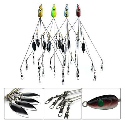 5 CT 5 Arms 4 Blades Umbrella Alabama  Rig for Bass Crappie Lure Fishing Bait HL