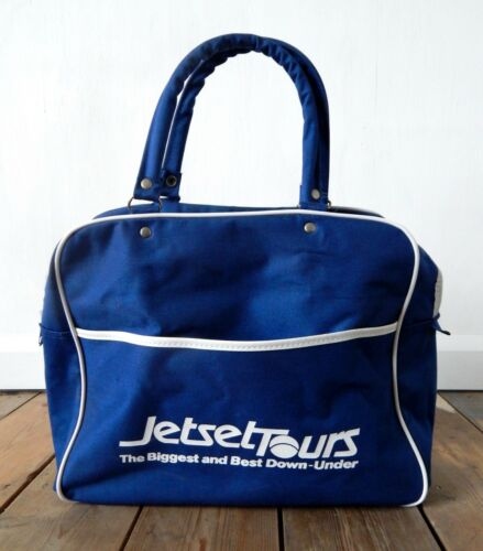 Vintage Petit Carry on Flight Sac jetsettours Down Under Australie Nouvelle-Zélande