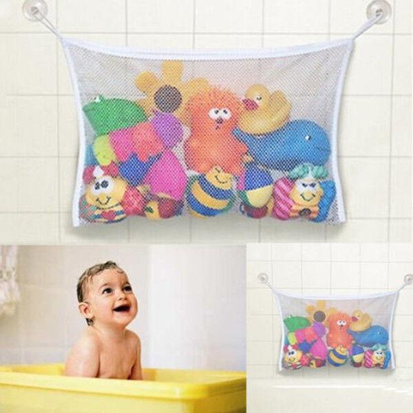 New White Kids Baby Bath Tub Toy Bag Hanging Organizer Storage Bag 37 x 36cm