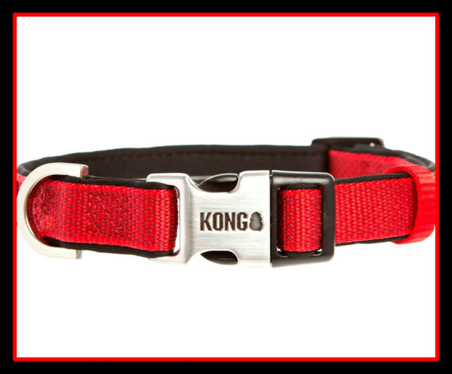 Kong Premium Really Racy Red Neoprene Lined Comfort Dog Collar Small Ebay