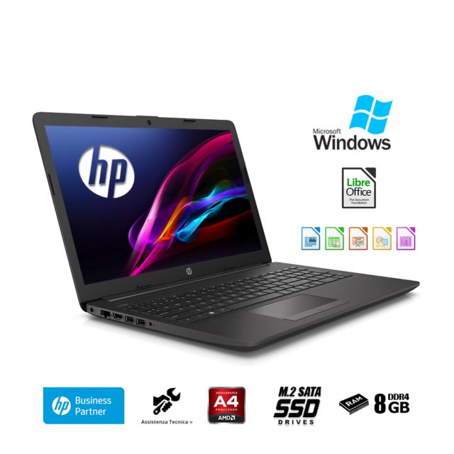 "Notebook Hp 255 G7 Display 15.6""Ram 8 Gb/Ssd M.2 256 Gb Windows 10 professional"