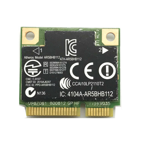 Atheros AR9380 AR5BHB112 Half Size Minipci-express Mini Card 450Mbps 802.11N ABG