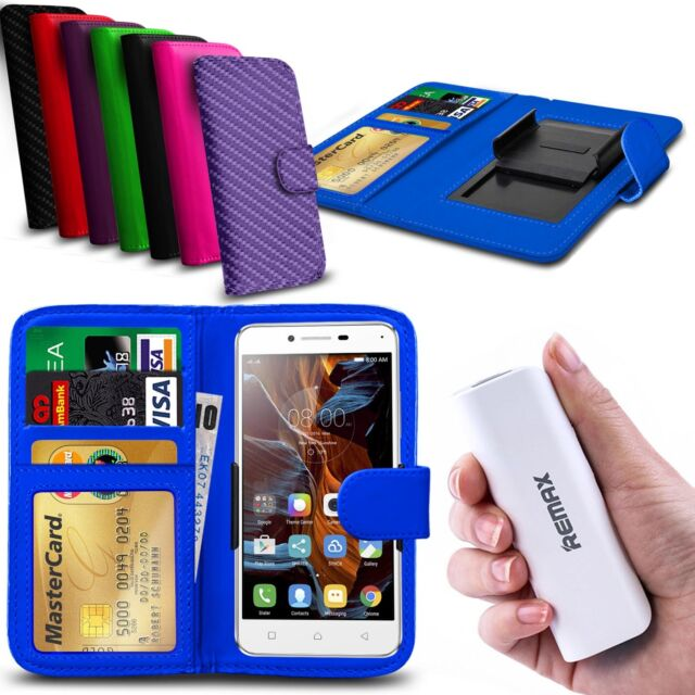 For Oukitel Universe Tap (U8) - Clip On PU Leather Wallet Case & Powerbank