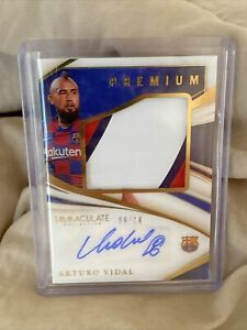 2020 Immaculate Arturo Vidal Premium Patch Auto GOLD 6/10 3-color Jersey Number