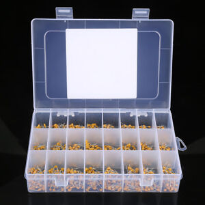 1200pcs-24Value-10pF-10uF-Multilayer-Ceramic-Capacitor-Assortment-50V-Kit-Set