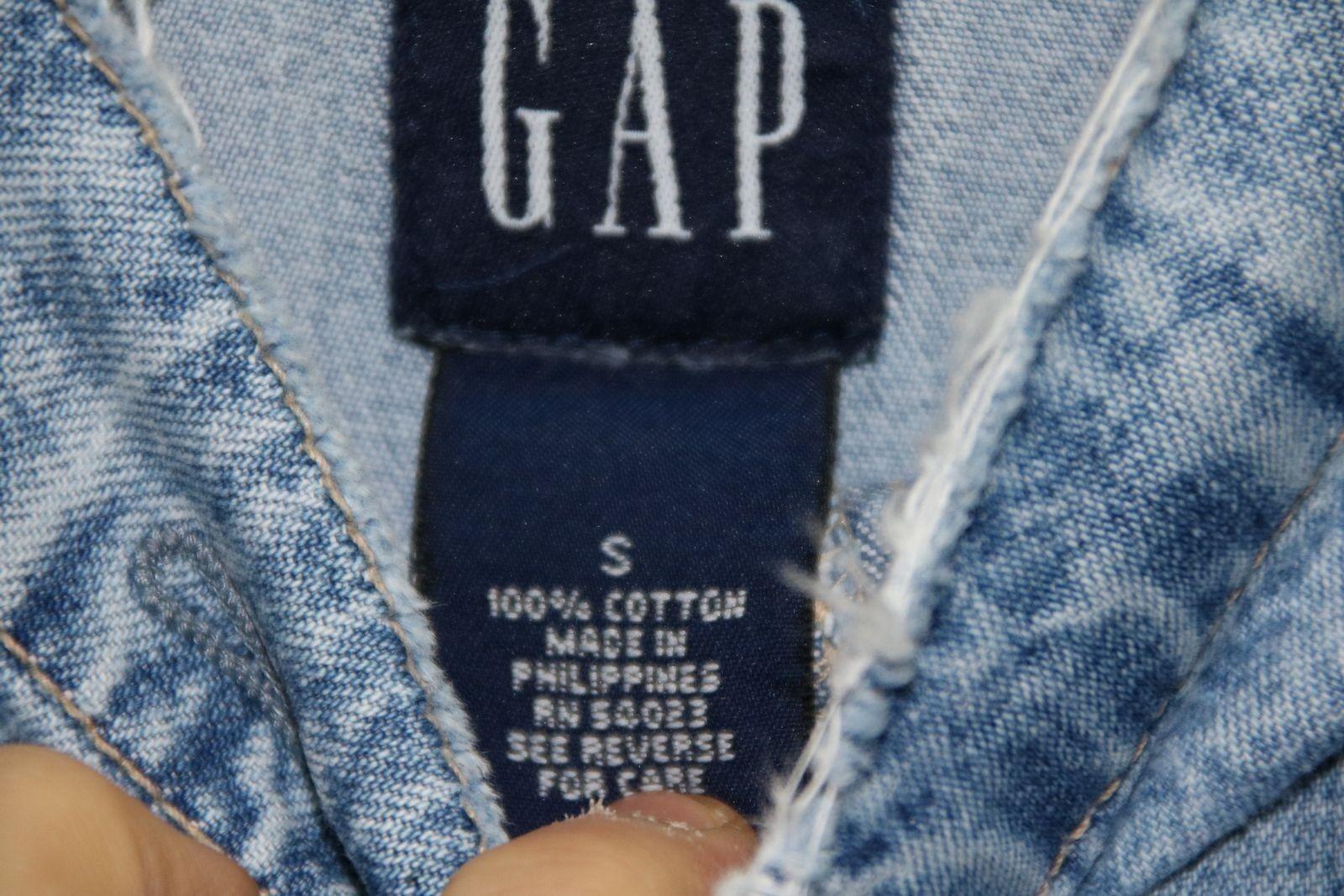 Salopette GAP GAP GAP (Cod. S808) tg S Jeans Usato Vintage custom rotture 9babb5