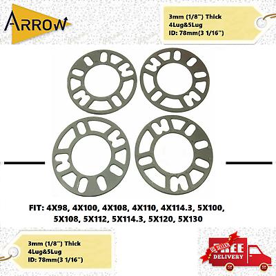 "Single 1//2/"" Thick Wheel Spacer 5x4.5-5x5 5x112mm 5x130mm 5x120mm"