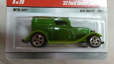 Hot Wheels Larry/'s Garage #8 Green /'32 Ford Sedan Delivery w//Real Rider