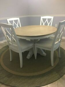 round dining table set for 6 with leaf from Wayfair w ...