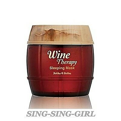 Holika Holika Wine Therapy Sleeping Mask Pack Red Wine 120ml sing-sing-girl