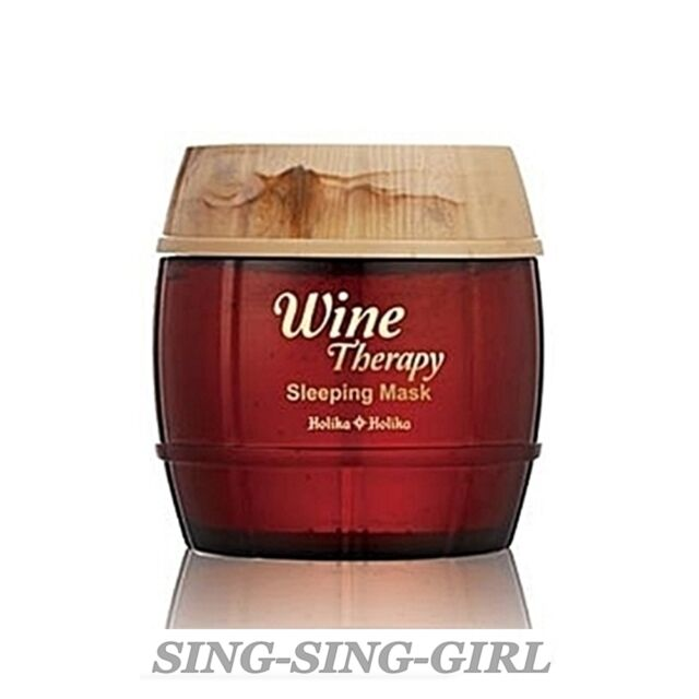 Holika Holika Wine Therapy Sleeping Mask Pack Red Wine 120ml sing-sing-girl