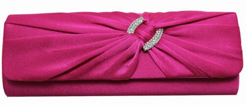 gorgeous ladies/' diamante satin evening clutch bag wedding prom party 10 colours