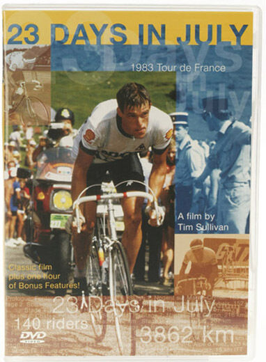 CYCLING DVD, 23 DAYS IN JULY,  CLASSIC FILM OF THE 1983 TOUR DE FRANCE
