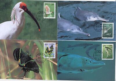 Asien Briefmarken Folder Methodisch Vr China Geschützte Tiere 10 Amtliche Maxikarten Im Org