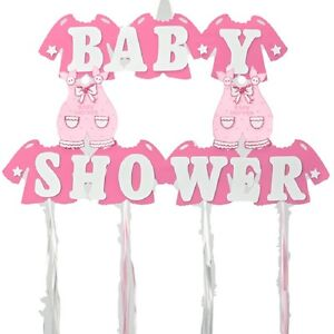 baby girl shower hanging foam pink decoration baby clothes 22 tall