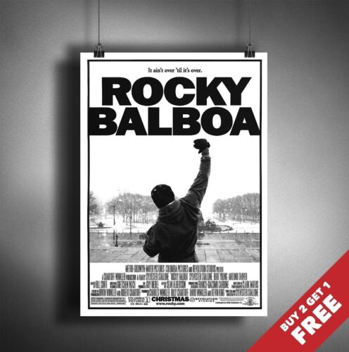 ROCKY BALBOA Poster A3 A4 Stallone Cult Classic Movie Art Print Home Wall Deco
