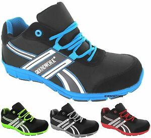 618975d3c8 NEW MENS LIGHTWEIGHT STEEL TOE CAP SAFETY TRAINERS WORK OFFICE SHOES ...