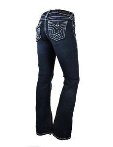 4decc588dc7ef LA Idol Women Plus Bootcut Jeans White Bold Stitching Stretch in ...