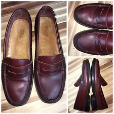 Men's Bass Weejuns Dress Penny Loafers Shoes Leather Sz 9W   D