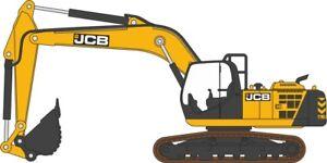 Oxford-Diecast-76JS001-1-76-JCB-JS220-Escavatore-Cingolato-JCB