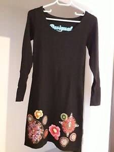 Robe Manches Longues Desigual Noire 36 38 Ebay