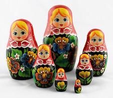 Matryoshka Russian Wooden Matriochka Matrioshka Babushkas Nesting Dolls Set 7pc