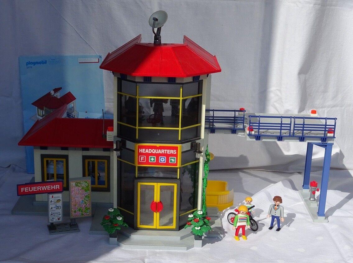 Playmobil Feuerwehr-Hauptquartier 3175  Feuerwache  3176  Station