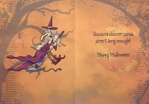14736 Witch Way Tree Free Greeting Card
