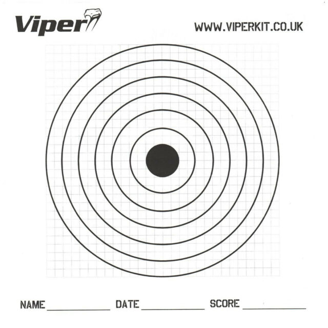 Viper 100 Ziele Pro BB Papier Luftgewehr Schießen Jagd 17X17Cm Airsoft