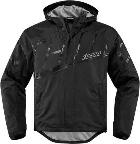 Black or Hi-Viz *SHIPS SAME DAY* ICON PDX 2 Waterproof Rain Textile Jacket