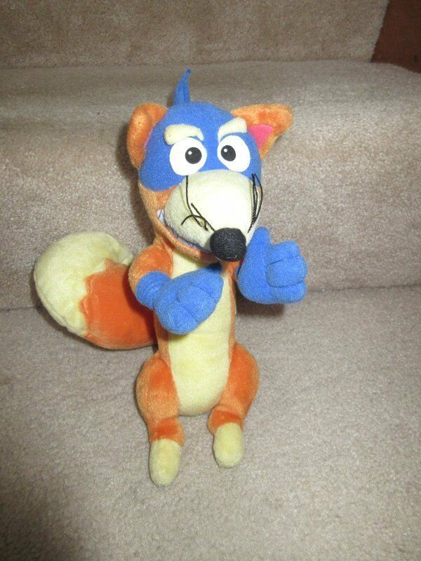 Dora Dora Dora the Explorer Swiper Stuffed Fox 2001 Fisher Price Talking Poseable a52dbf