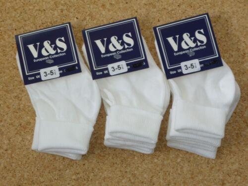 6 Paires Blanc Turn Over Top baby chaussettes nouveau-né à 3.5.5