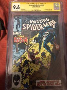 AMAZING SPIDER-MAN #265 1st SILVER SABLE CGC 9.6 Spider-Man CGC Label