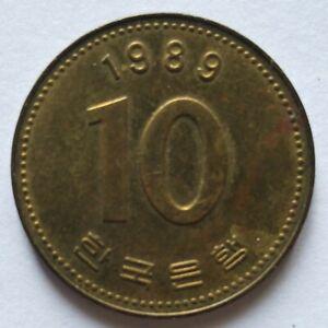South Korea 1989 10 Won coin