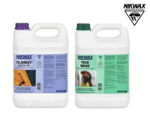 Nikwax Tech Wash & Tx Direct Twin Pack nettoyage imperméables 2 x 5 L