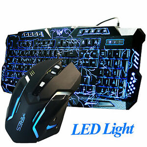 Gaming-Combo-Set-Wired-Keyboard-and-Mouse-LED-Illuminated-Backlight-USB-Bundle