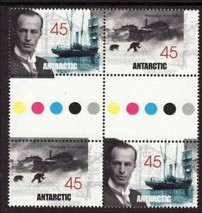 1999-AAT-Stamps-Mawsons-Huts-MNH-Gutter-Block-of-4