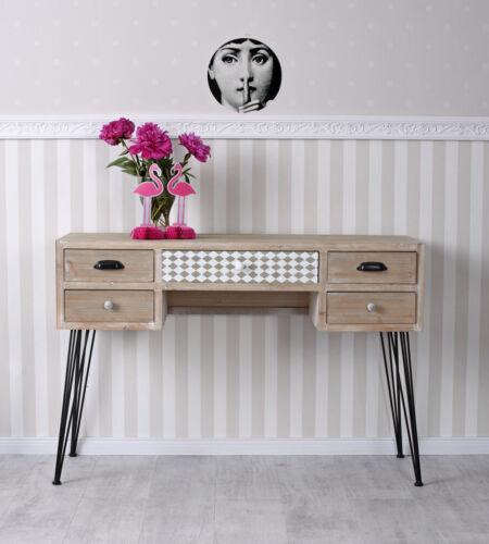 Vintage Schreibtisch Loft Tischkonsole Konsolentisch Industrie