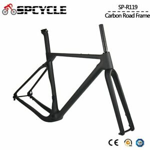 700C-Aero-Carbon-Gravel-Bike-Frame-Disc-Brake-Cyclocross-Bicycle-Frameset-BB386