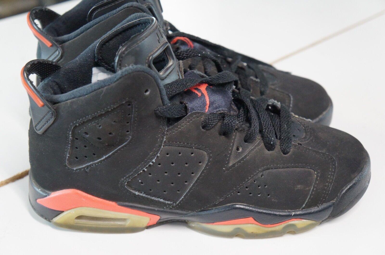 Jordan 6 Retro Zapatos Negro Air Infrarrojo (2014) para mujer Talla 6. Juventud tamaño 4Y.