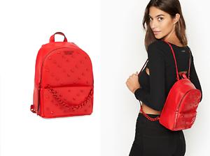 VICTORIA/'S SECRET VS PARIS Laser Cut Small City Backpack RED STUDDED BAG Purse