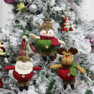 Merry-Christmas-Santa-Claus-Snowman-Ornament-Festival-Party-Xmas-Tree-Decor-Doll