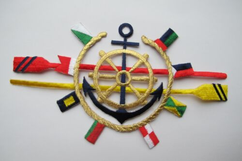 #3733 Nautical Marine Sailing Boat Ship Embroidery Iron On Applique Patch